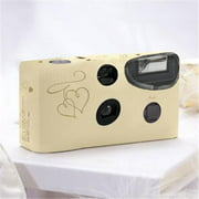 Weddingstar 5507-55 Enchanted Hearts Ivory And Gold Single Use Camera