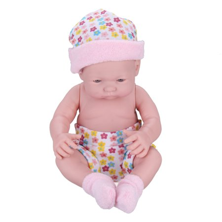 9.5'' Handmade Lifelike Realistic Newborn Reborn Infant Baby Doll Silicone Vinyl Cloth Soft Sleeping Toy Toddler Kid Gifts