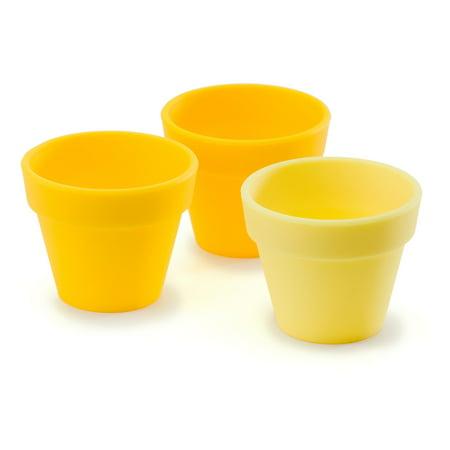 Fusionbrands PetitePot Silicone Pinch Bowl Set Of 3 Yellow - Yellow Bowls