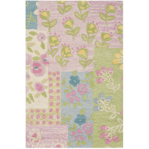 Safavieh Kids Hand-Tufted Pink/Green Area Rug