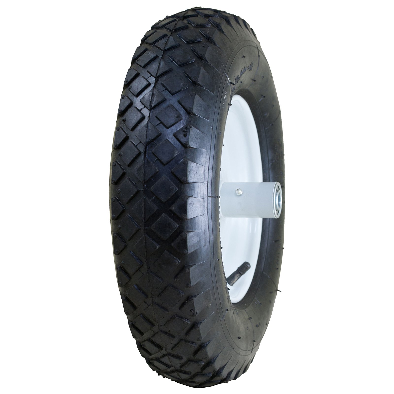 "Marathon Industries 20047 4.80/4.00-8"" Pneumatic Knobby Tread Wheelbarrow Tire"