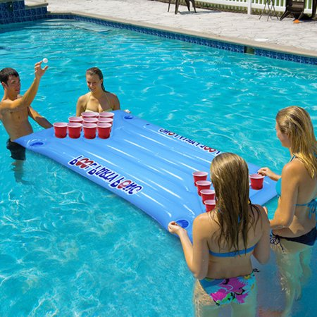 Party Barge Inflatable Beer Pong Table Pools Rivers Lakes