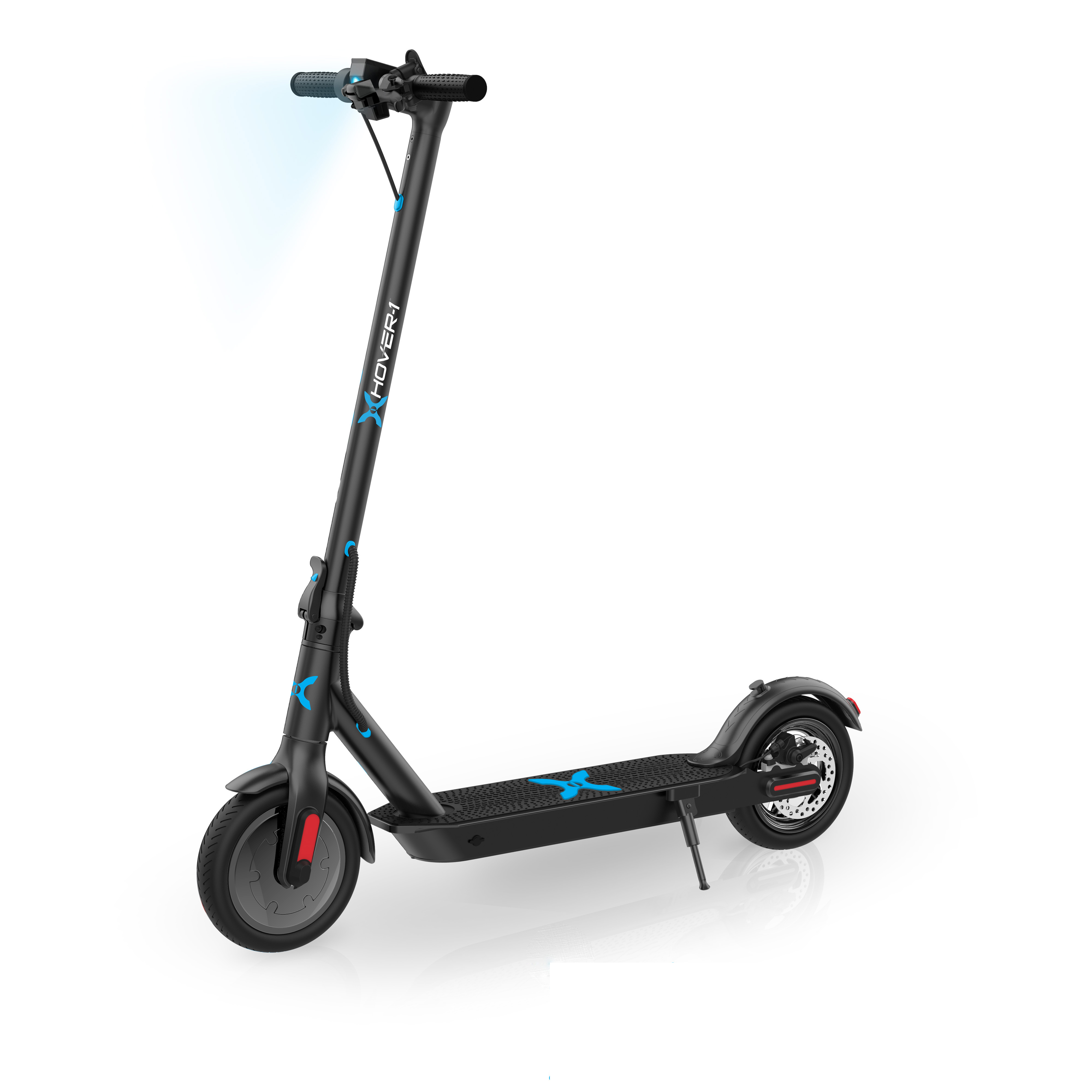 "Hover-1 Pioneer Electric Folding Scooter w/ 10"" Air-Filled Tires, Built-In Bluetooth Speaker, LED Headlight/Lighting/Display, Electronic & Mechanical Brake, 18 MPH Max Speed – Just $198.00 (Reg $348)"