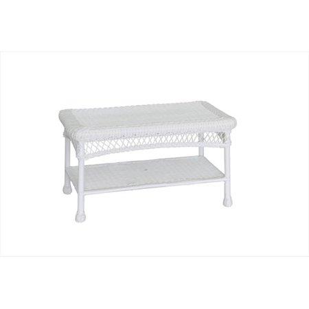 Jeco Wicker Patio Furniture Coffee Table