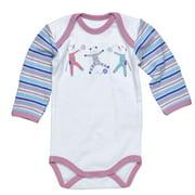 Long Sleeve Infant Bodysuit - Scrappy Cat - NB-3 months