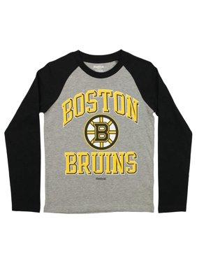 Product Image Reebok NHL Youth Boston Bruins Raglan Tee 15fc3bae8