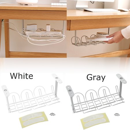 Asewin Cable Management Tray Storage Organizer Computer Desk Charger Box Plugs Caddy ()
