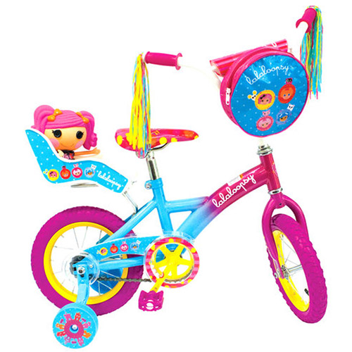"12"" Lalaloopsy Bicycle with Doll Carrier and Bag"