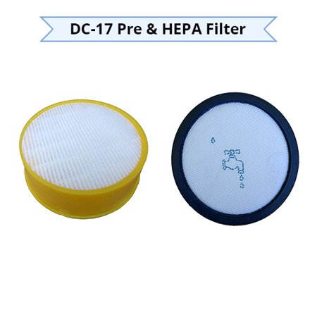 EnviroCare Replacement Pre and Post Motor Vacuum Filters for Dyson DC17 Machines