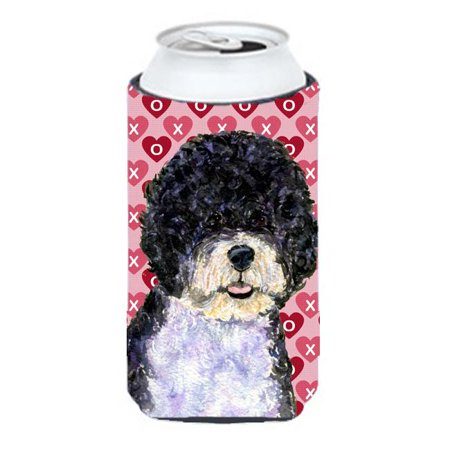 Carolines Treasures SS4490TBC Portuguese Water Dog Hearts Love Valentines Day Tall Boy bottle sleeve Hugger - 22 To 24 oz. - image 1 of 1