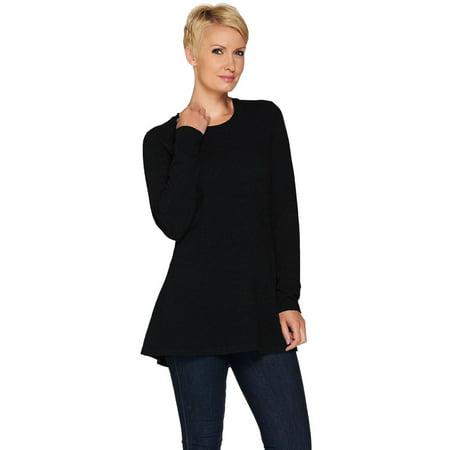 Isaac Mizrahi 2-Ply Cashmere Peplum Tunic Sweater A281354 Cashmere Cotton Tunic