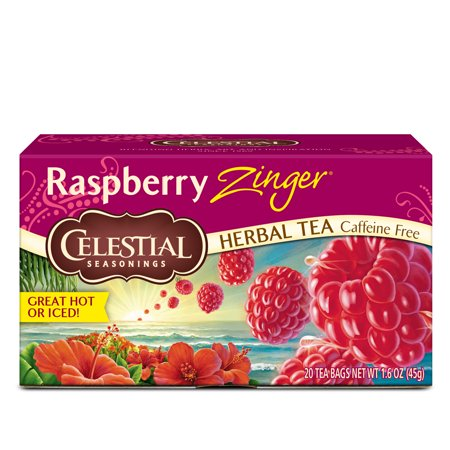Celestial Seasonings Raspberry Zinger Herbal Tea, 20 Count