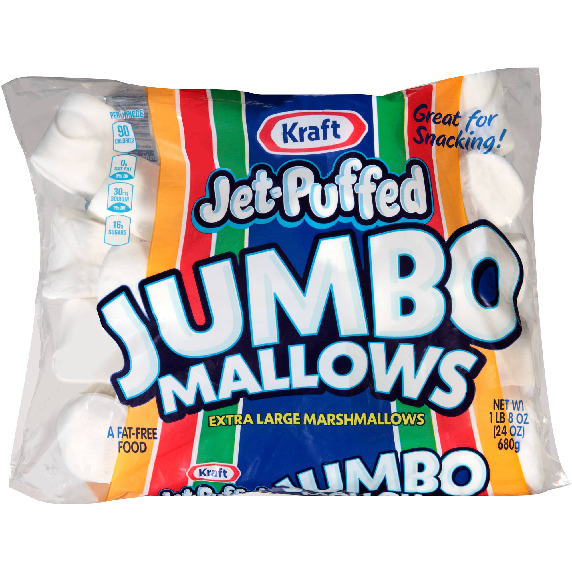 Kraft Jet-Puffed Jumbo Mallows Extra Large Marshmallows, 24 oz