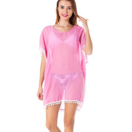 f2f2da82abf SAYFUT - SAYFUT Women Swimwear Dress Bikini Tops Cover ups Chiffon Tassel  Bohemian Swim Cover Ups Bikini Beach Dress Summer Casual Shirt Dress -  Walmart.com