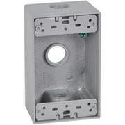 Hubbell Electrical FSB50-3 1 Gang Rectangular Outlet Box, Gray