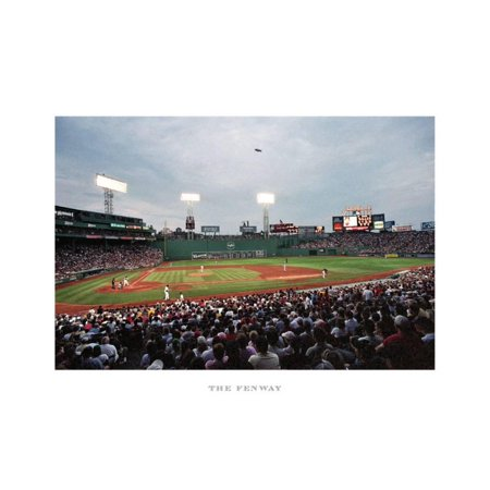 Fenway Park Artwork (Fenway Park, Boston Art Print By Ira Rosen - 19x10 )