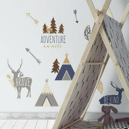 Adventure Awaits Animal Peel and Stick Wall Decals ()