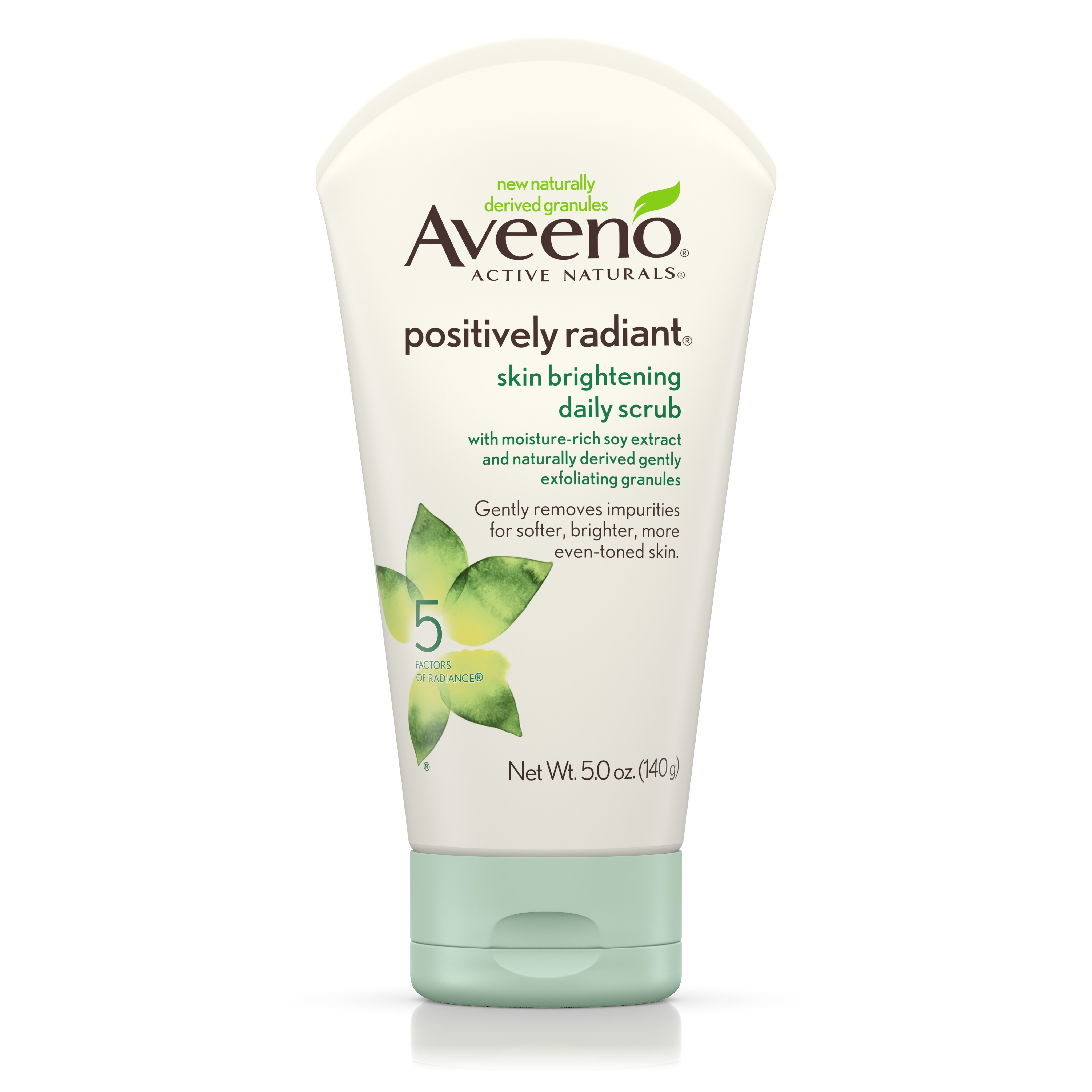 Aveeno Positively Radiant Skin Brightening Exfoliating Daily Scrub 5Oz