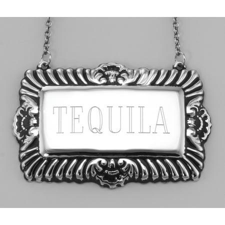 Herradura Silver Tequila - Tequila Liquor Decanter Label / Tag - Sterling Silver