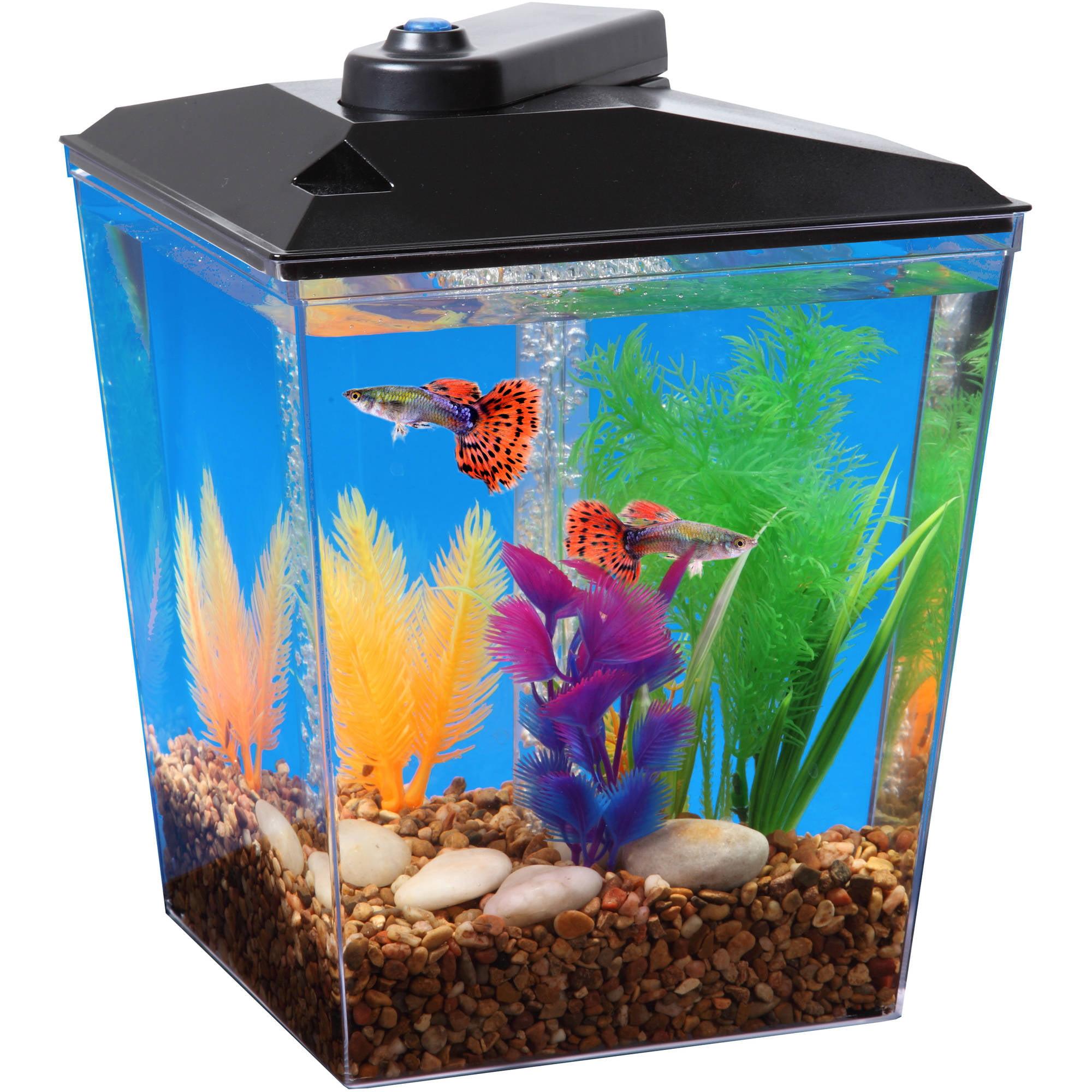Unique bargains aquarium fish tank light blue artificial for Artificial fish tank