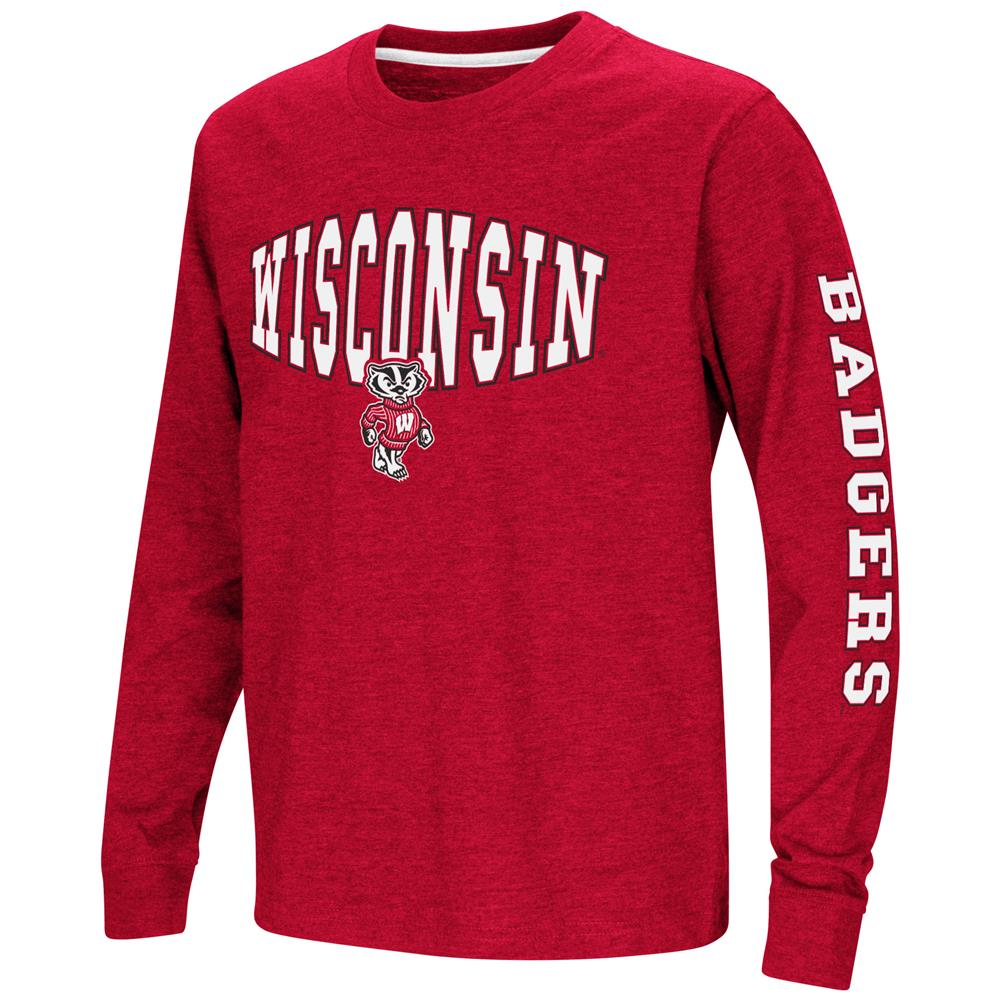 University of Wisconsin Badgers Youth Long Sleeve Tee Spike L/S Tee