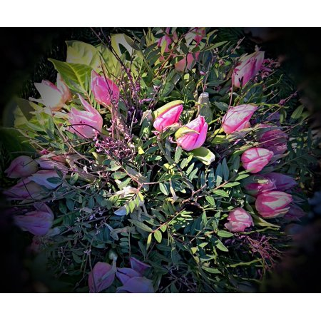 Laminated Poster Robust Rustic Bound Pink Purple Big Bouquet Tulips Poster Print 11 x 17](Rustic Bouquet)