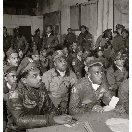Tuskegee airmen attending a briefing First row 1 Hiram E Mann Cleveland OH Class 44-F 2 Unidentified 3 Newman C Golden Cincinnati OH 44-G 4 Bertram W Wilson Jr Brooklyn - Halloween Store Brooklyn Ny