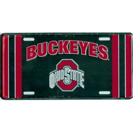 Ohio State Buckeyes Shaft - Ohio State Buckeyes Black License Plate