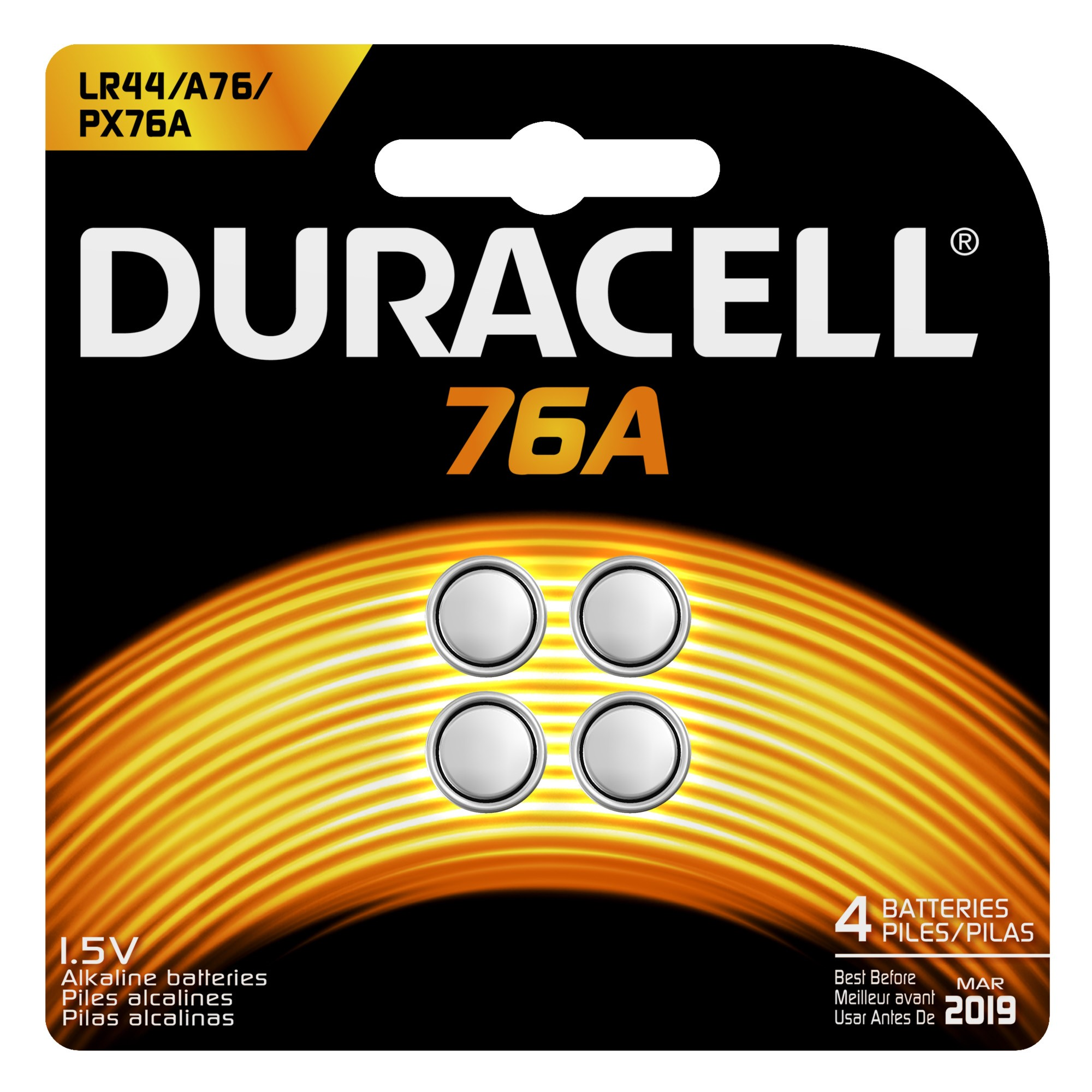 Duracell Alkaline 76A, 4 Count