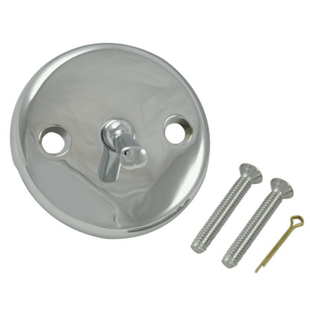 Overflow Trip Lever Drain - DANCO Tub/Shower Overflow Plate with Trip Lever for Tub Drains, Chrome, 1-Pack (80991)
