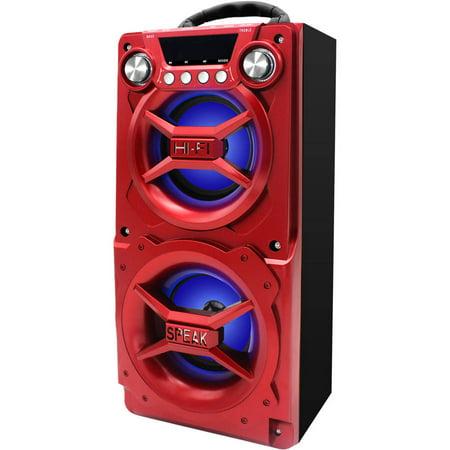 Sylvania SP328-RED Bluetooth Speaker, Internal Battery, Speakerphone, USB Charging, Red