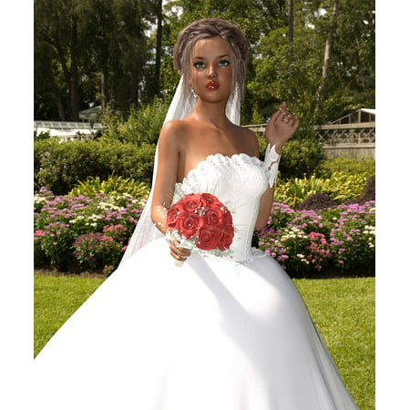 Framed Art For Your Wall Wedding Woman Date Doll Bride Time White Dress 10x13 Frame
