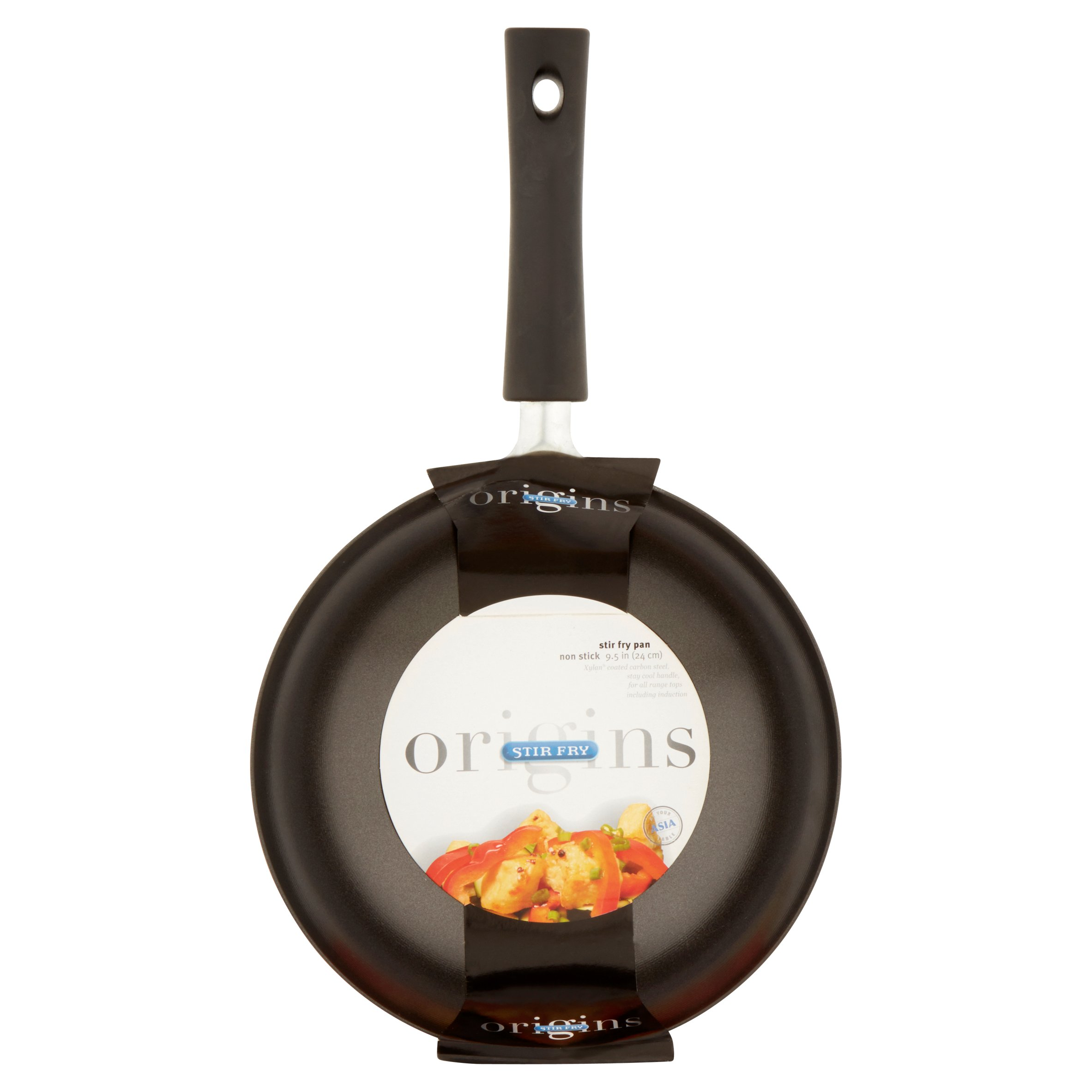 Asian Origins Nonstick Carbon-Steel 9-1//2-Inch Stir-Fry Pan Columbian Home Products 91-0010