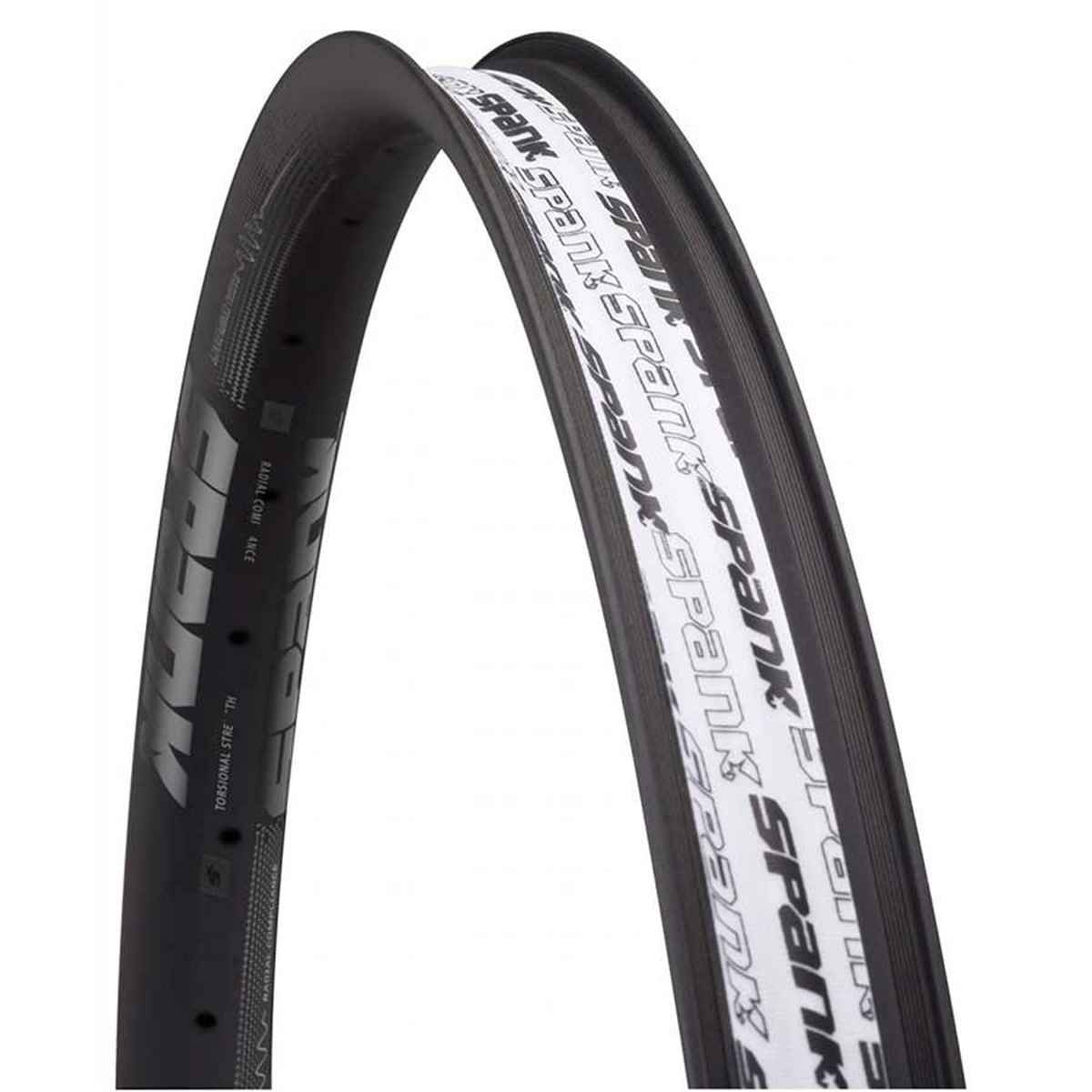 Spank Oozy 350 Rim 27.5' Iso 584 32H Aluminum - Welded Presta - Black - C02OZ356520ASPK
