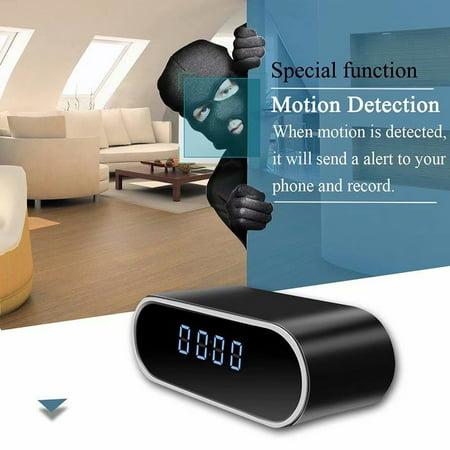 VicTsing HD Mirror Alarm Clock Wireless Intelligent Remote Clock Night Vision Lights Wifi Camera