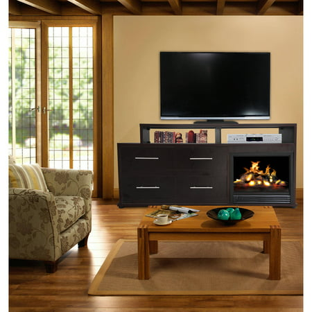D;cor Flame Cameron 66″ Media Fireplace, for TVs up to 70″, Dark Chocolate