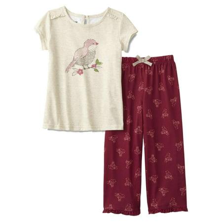 Infant & Toddler Girls Pink Bird Pajamas Lightweight Robin Sleep Set