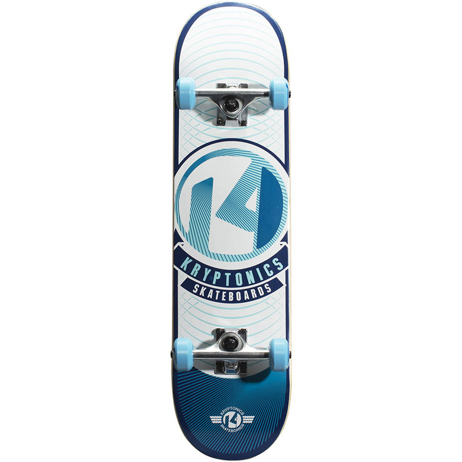 "Kryptonics Pop Series Complete Skateboard, 31"" x 7.75"""