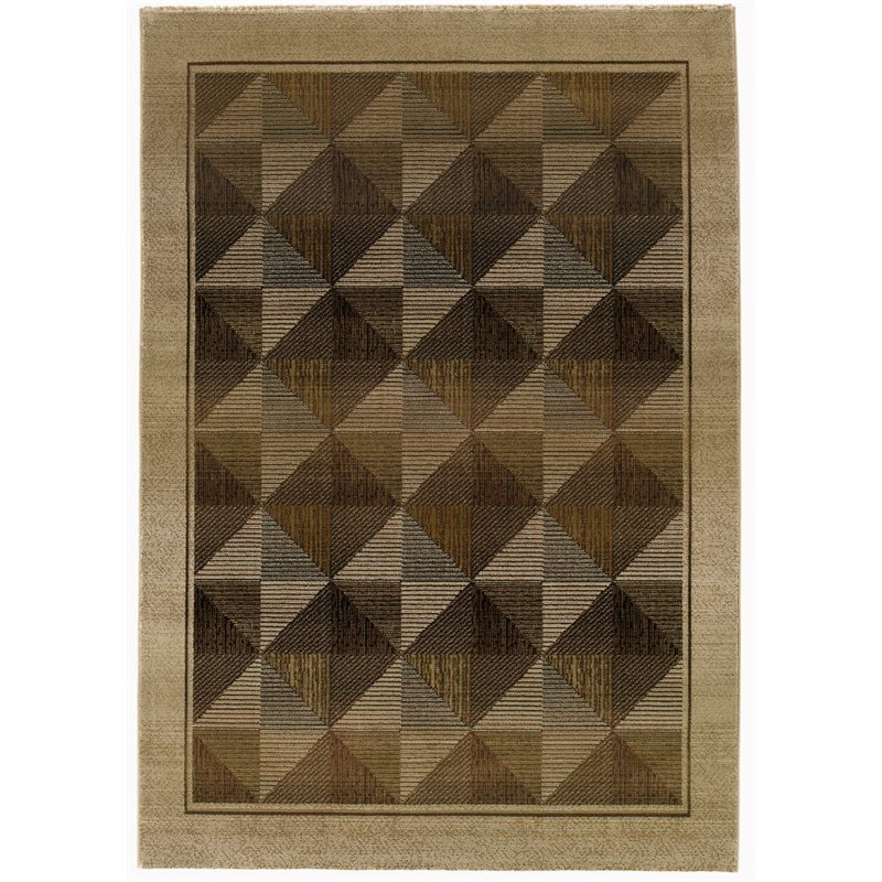 "Oriental Weavers Generations 4' x 5'9"" Machine Woven Rug in Beige"