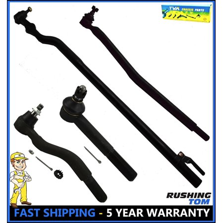 Steering Kit Chassis Tie Rods Drag Link Center Link 4WD Ford Excursion F250 SD (Manual Steering Center Link)
