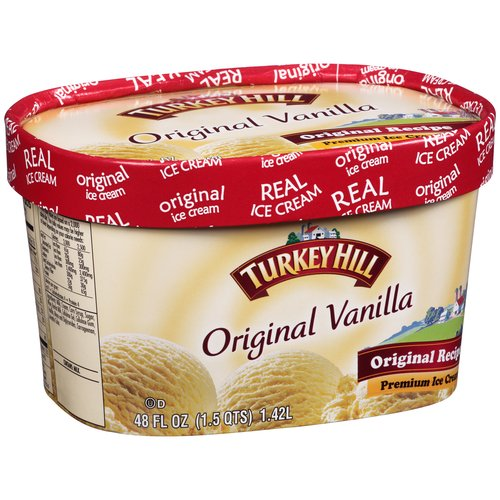 Turkey Hill Original Vanilla Premium Ice Cream, 1.50 qt