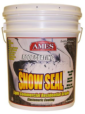 Ames Research Laboratories SSC5 Snow Seal Premium Roof Coating, Contractor Grade, Elastomeric,... by AMES RESEARCH LABORATORIES