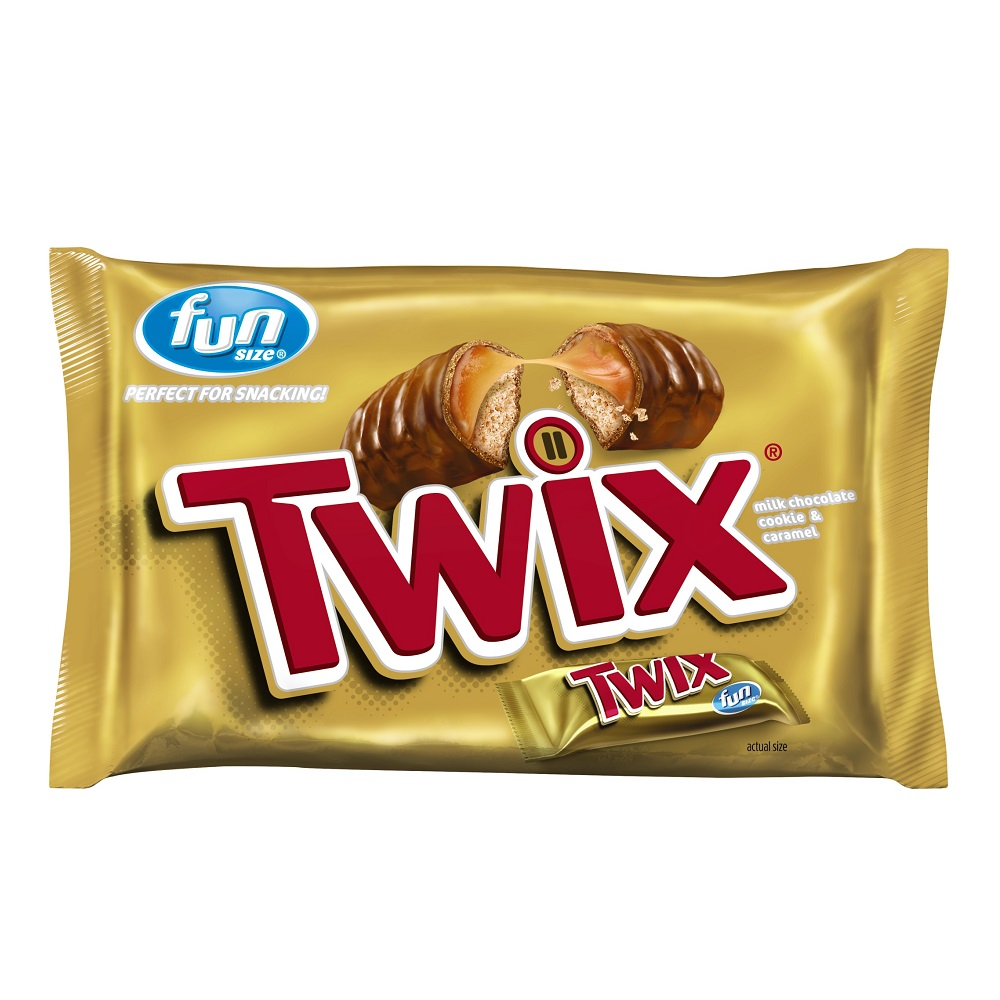 TWIX Caramel Fun Size Chocolate Cookie Bar Candy Bag, 10.83 oz