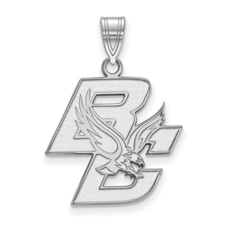 Solid 10k White Gold Boston College Large Pendant (20mm x 28mm) College Seal Jewelry Pendant