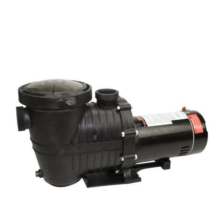 .75 HP High Performance Self-Priming Medium Head Swimming Pool and Spa Pump - Black High Head Pump