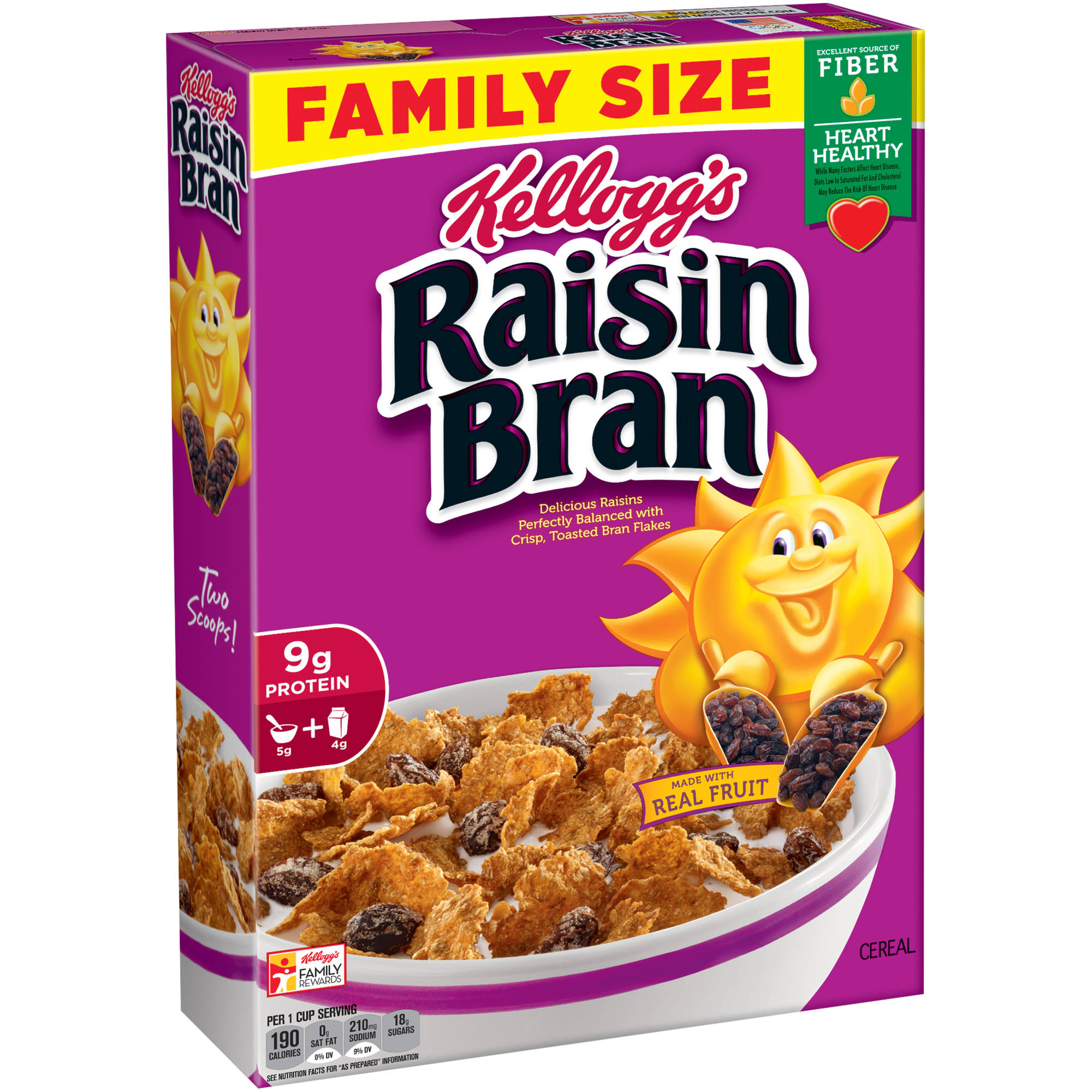 Kellogg's Raisin Bran Cold Cereal,  23.5 ounce box