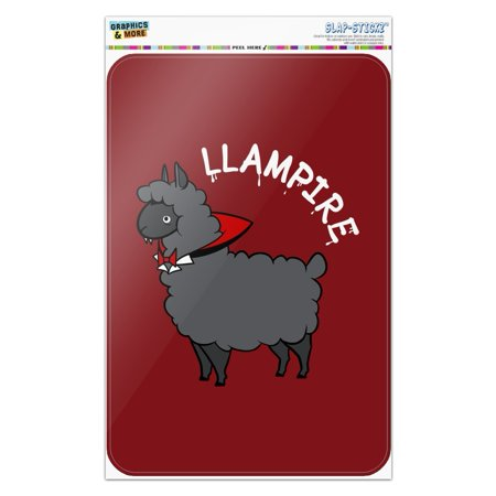Funny Signs For Halloween (Llampire Llama Vampire Funny Home Business Office)