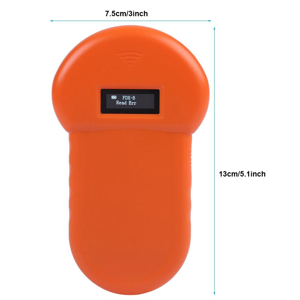 Animal Chip Reader 134.2Khz LCD ISO ID Chip Animal Reader RFID Dog Microchip Handheld Pet Scanner