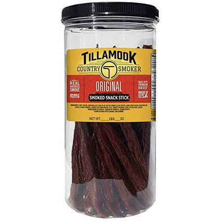 Tillamook Beef Jerky Jar ~ Variety Flavors 20 Count (Country Smoke Original )