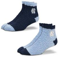 North Carolina Tar Heels For Bare Feet Women's 2-Pack Sleep Soft Socks